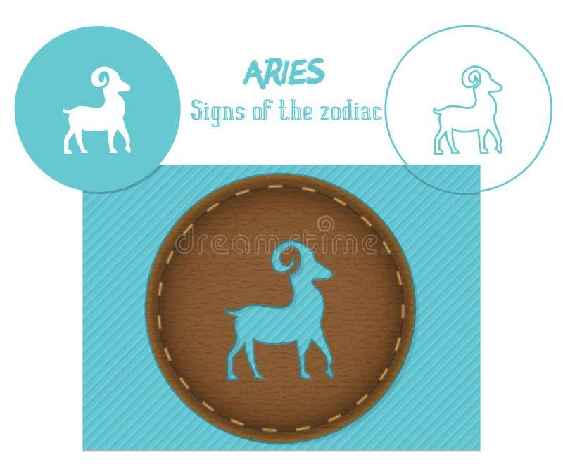 aries Sinais do zodíaco Corte do laser E ilustração royalty free