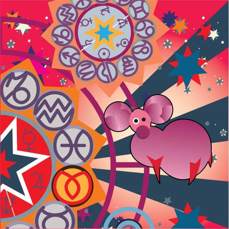 Aries - sinal do zodíaco do incêndio ilustração royalty free