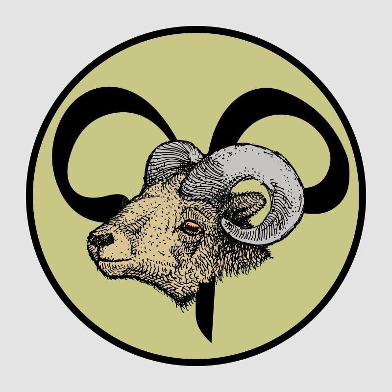 Aries Zodiac Sign vector illustratie