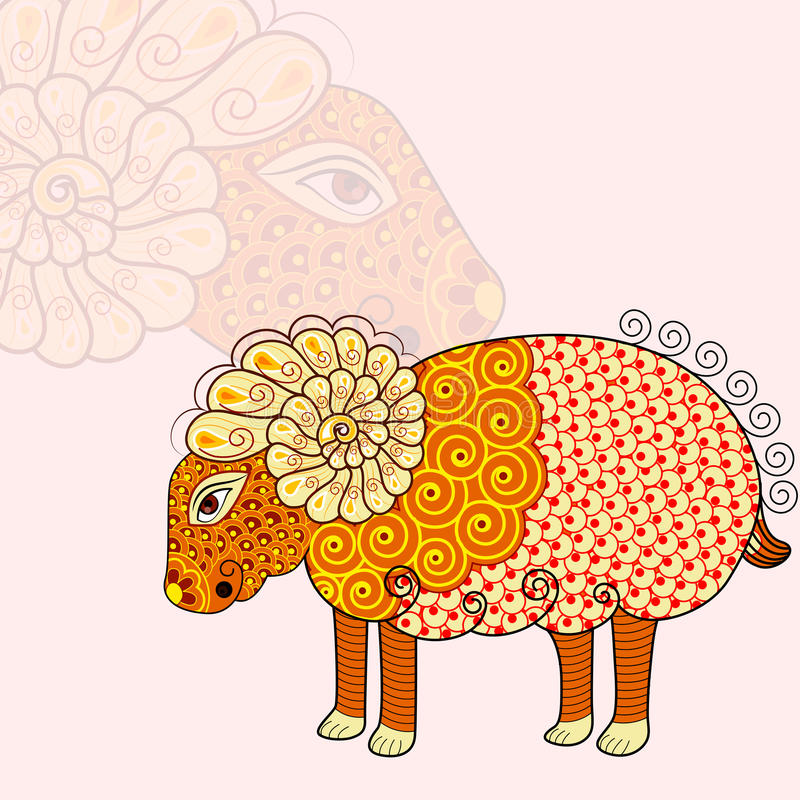 Aries Zodiac Sign stock illustratie