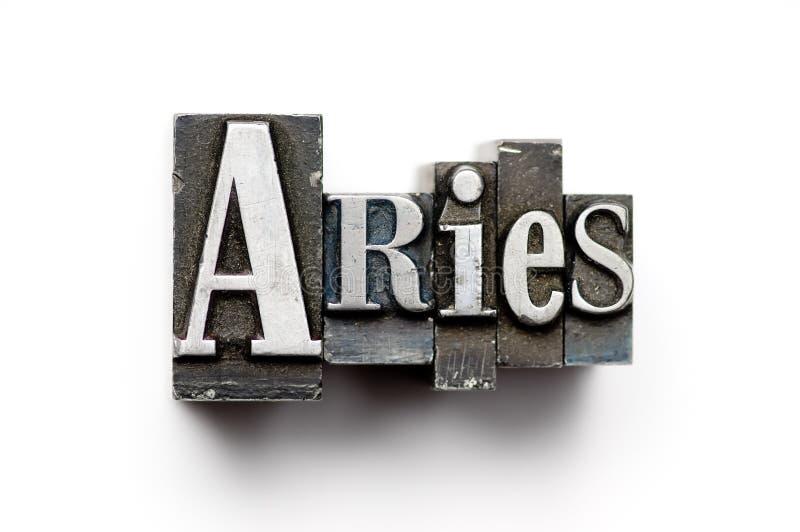 Aries Zodiac Sign royalty free stock photo