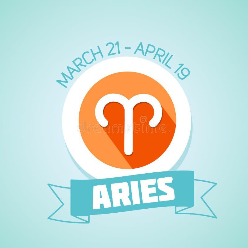 Aries Zodiac Sign stock de ilustración