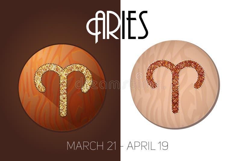 Aries Zodiac Sign ilustración del vector