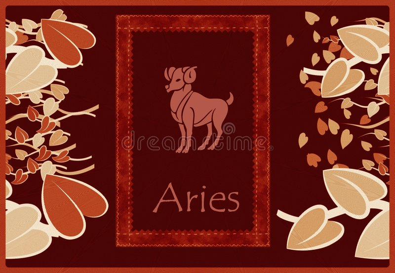 Download Aries zodiac sign stock illustration. Image of color, artistic - 8809908
