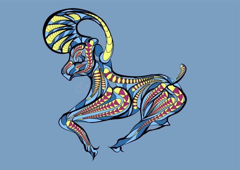 Aries zodiac sign stock illustration