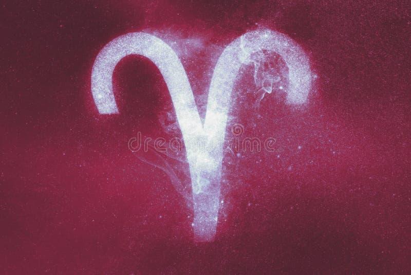 Aries Zodiac Sign abstrakt bakgrund royaltyfria bilder