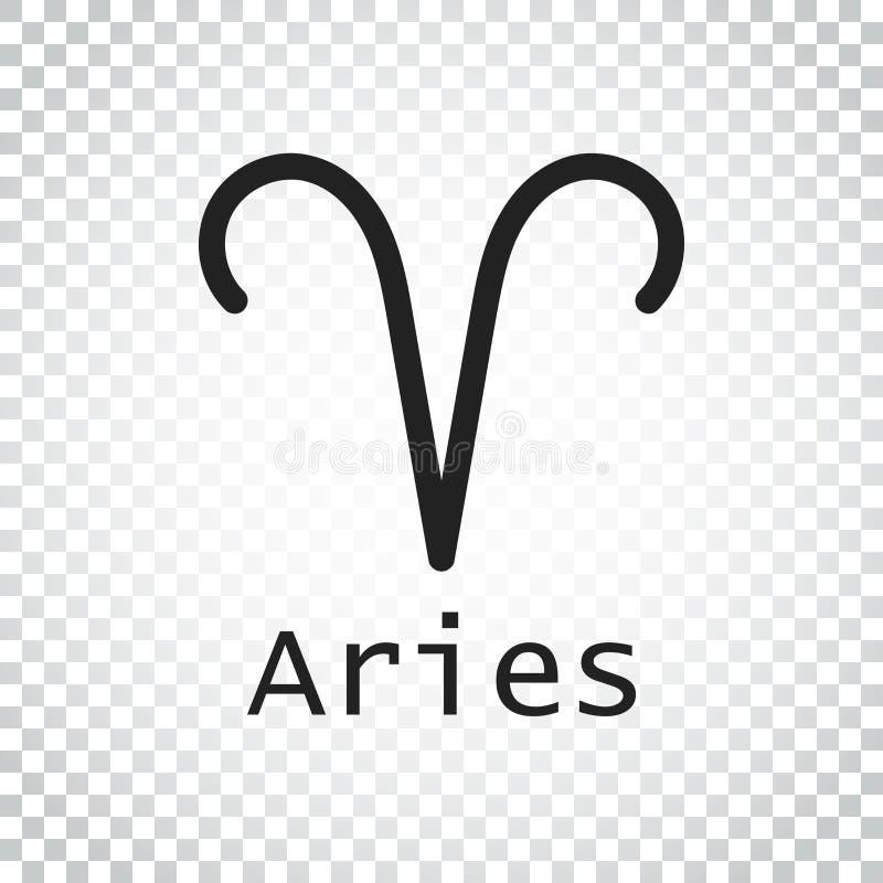 Download Aries Zodiac Sign Flache Astrologievektorillustration Auf Isolat Vektor Abbildung - Illustration von widder, stern: 96935785