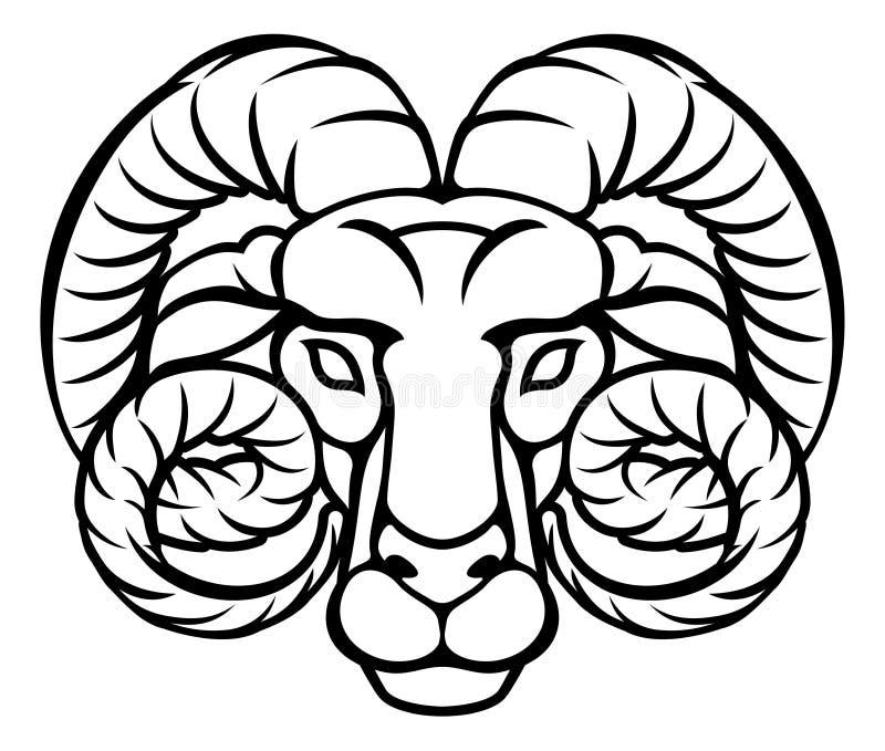 Aries Zodiac Sign Ram illustration libre de droits