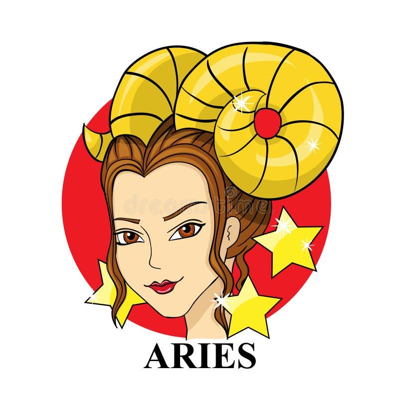 Aries Zodiac Sign Símbolo astrológico libre illustration