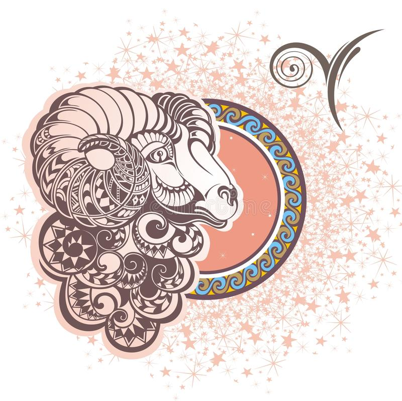 Aries. Zodiac sign vector illustration