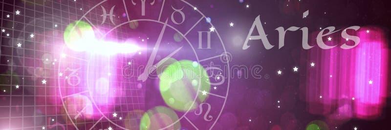 Aries zodiaka mistyczna astrologia royalty ilustracja