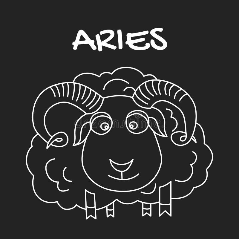 Aries zodiaka znak dla horoskopu w wektorze EPS8 zdjęcia stock