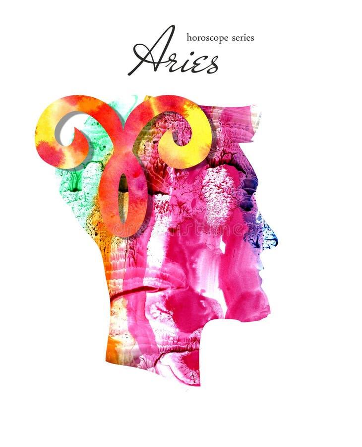 Aries zodiaka znak Horoskop serie ilustracji
