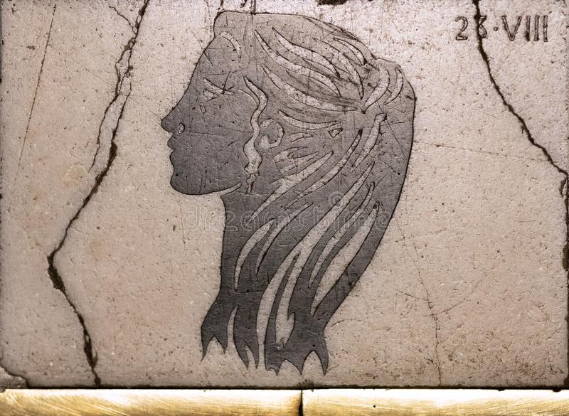 Ariete antico del segno dell'oroscopo fotografie stock libere da diritti