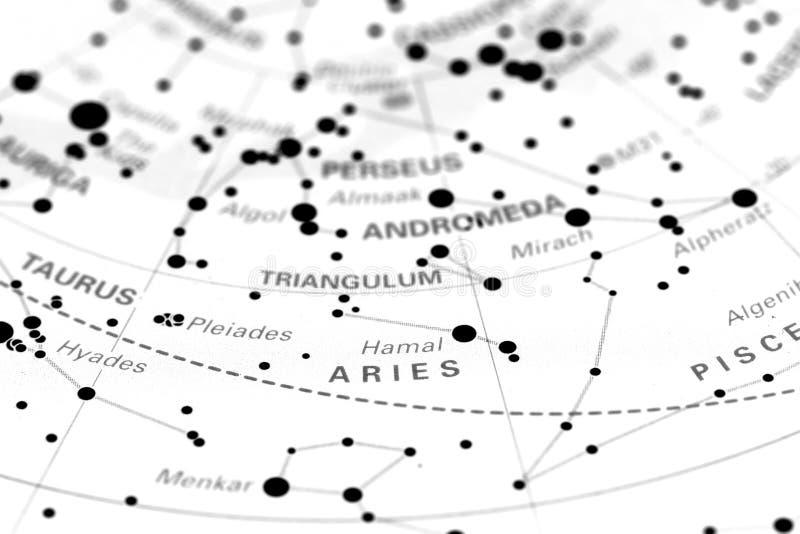 Ariete sulla mappa di stella fotografie stock libere da diritti