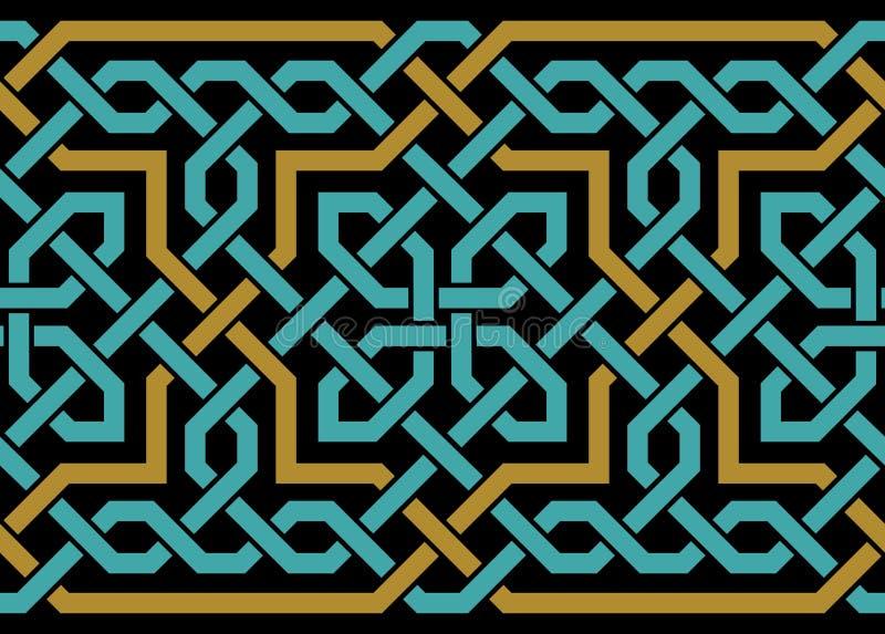Arihah sömlös gräns stock illustrationer