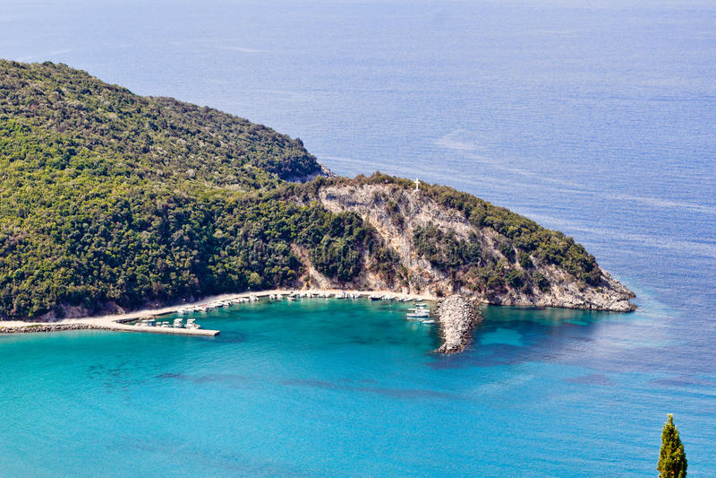 Arilla en Perdika, Grecia fotos de archivo