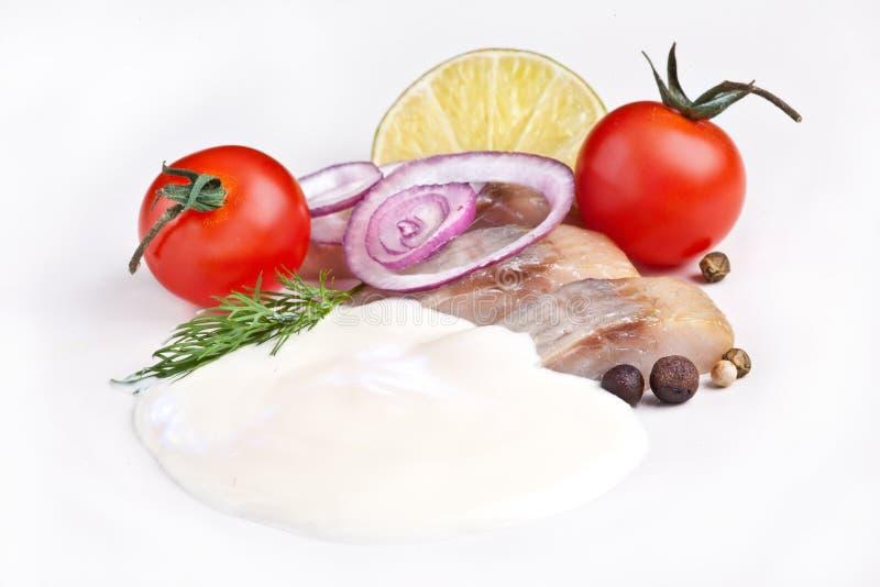 Aringhe salate fotografie stock