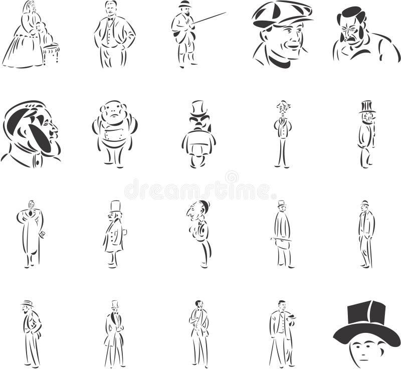 Aristocracia stock de ilustración