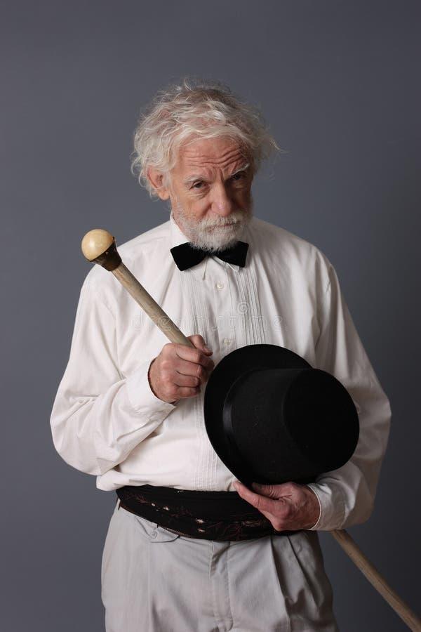 Aristocratic aged man stock photos