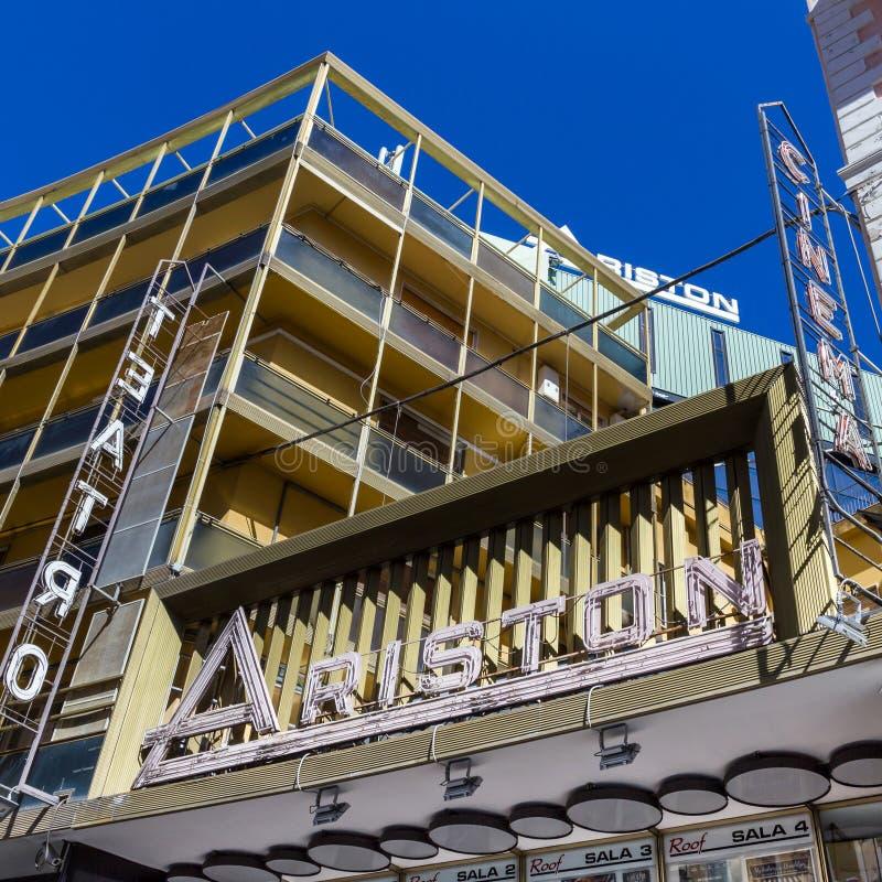 Ariston-Theater in Sanremo ITALIEN lizenzfreies stockbild