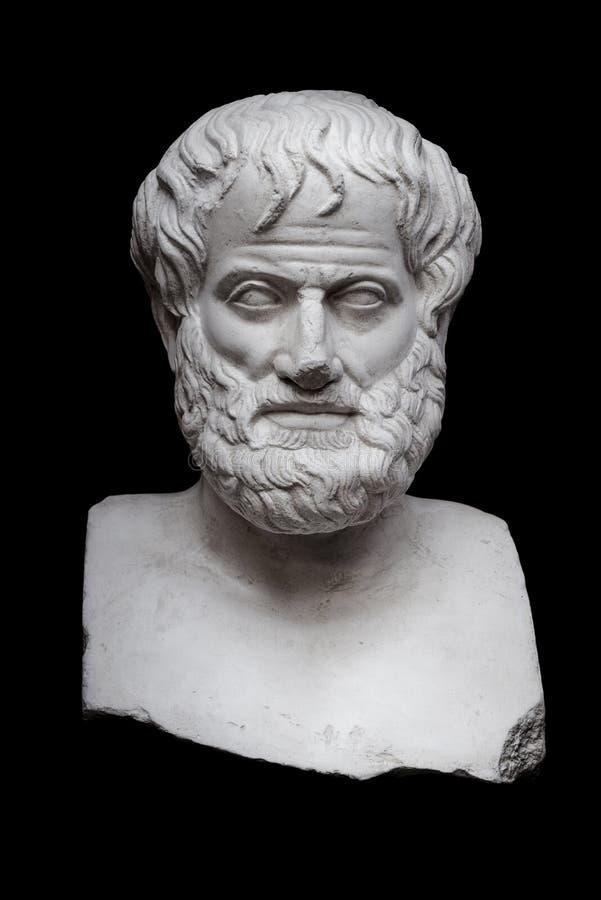 Aristotele sul nero immagini stock libere da diritti