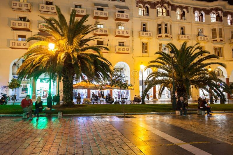 Aristotelous kwadrat w Saloniki fotografia royalty free