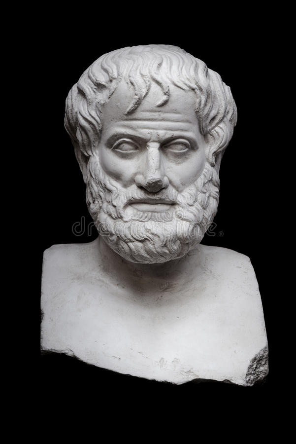 Aristotle on Black royalty free stock images