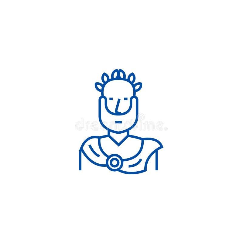 Aristotle, grecki filozof linii ikony pojęcie Aristotle, greckiego filozofa płaski wektorowy symbol, znak, kontur royalty ilustracja