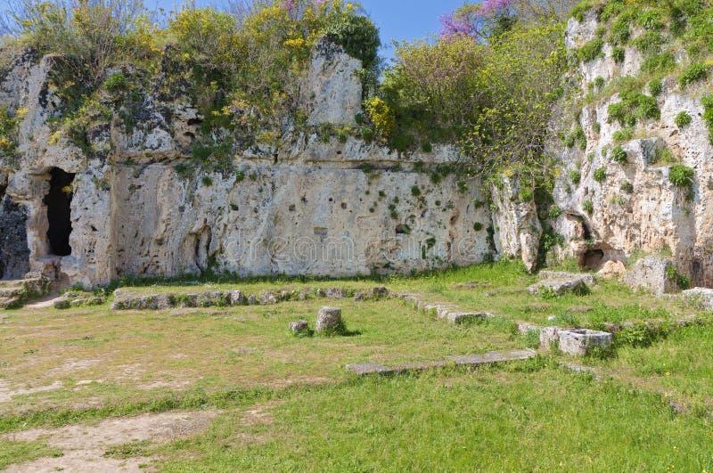 Aristotles ancient school in Greece stock photos