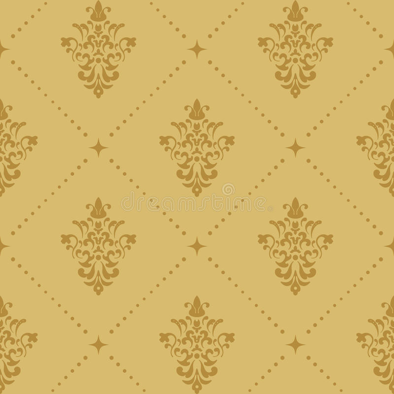 Aristrocratisch barok behangpatroon vector illustratie