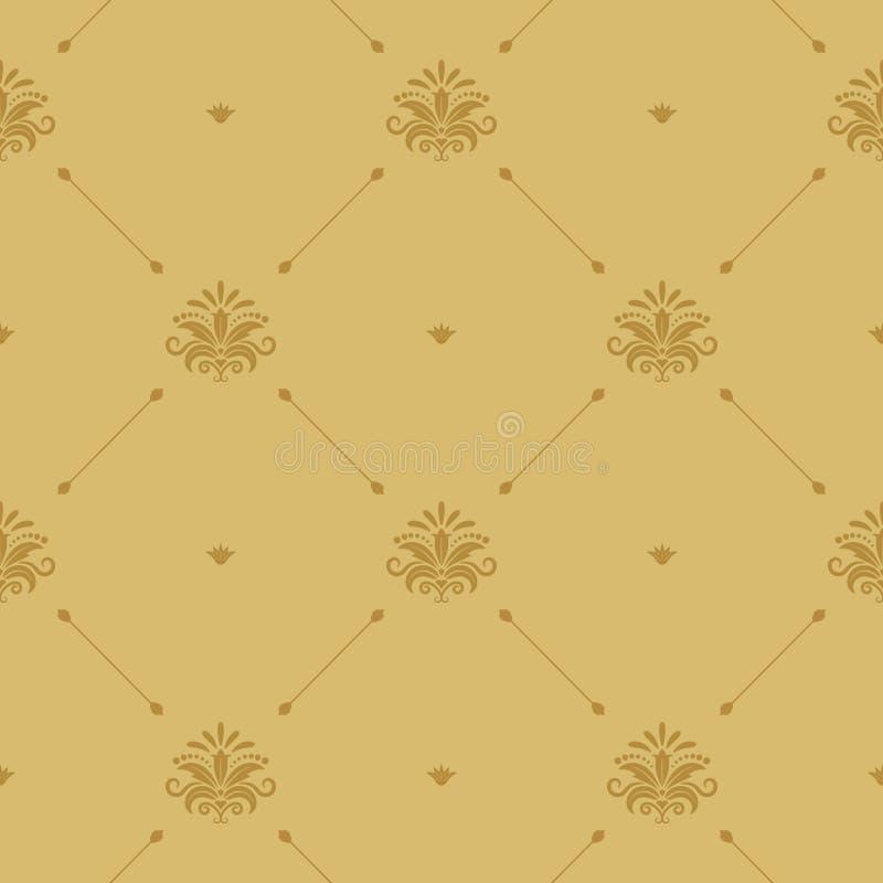 Aristrocratisch barok naadloos behang royalty-vrije illustratie