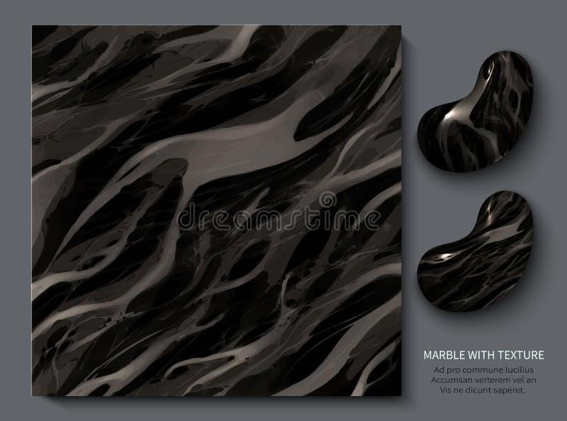 Aristrocratisch kostbaar marmer Modern ontwerpmalplaatje voor uitnodiging royalty-vrije illustratie
