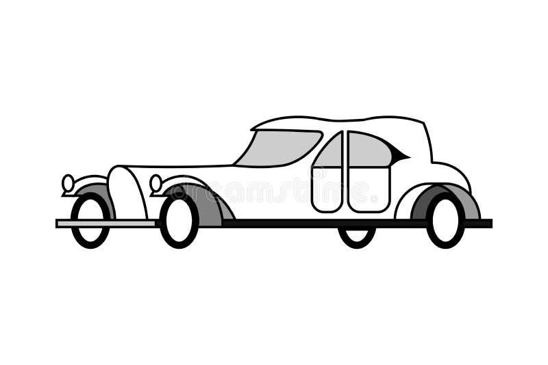 Aristrocratische auto 20 jaar van de 20ste eeuw stock illustratie