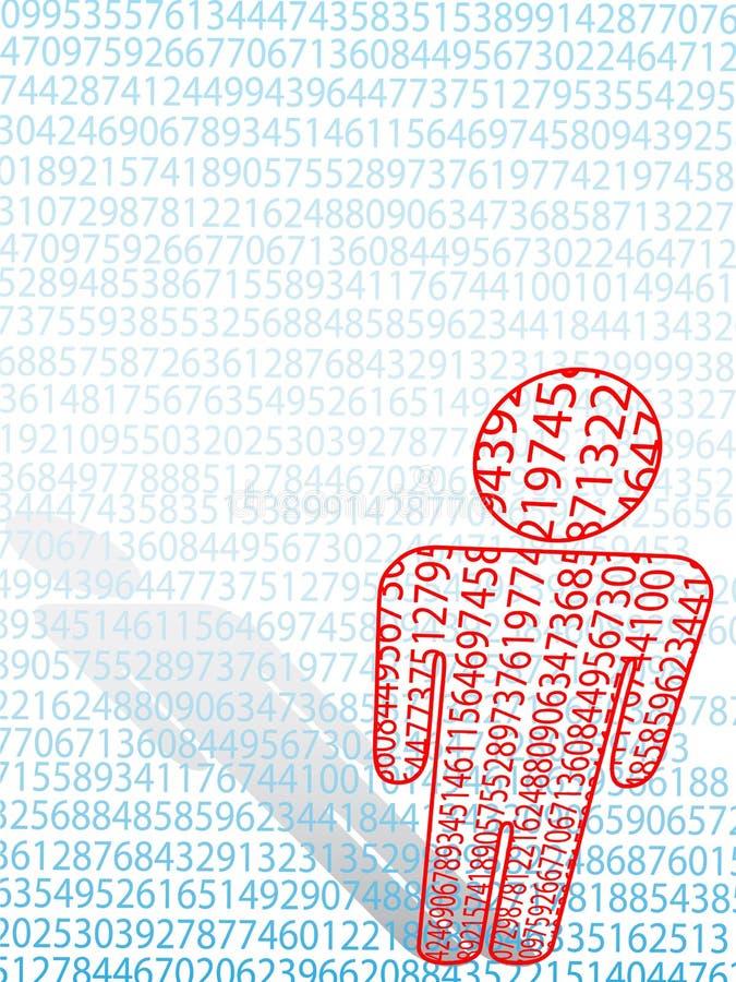 arithmetic data man numeriskt symbol för math stock illustrationer