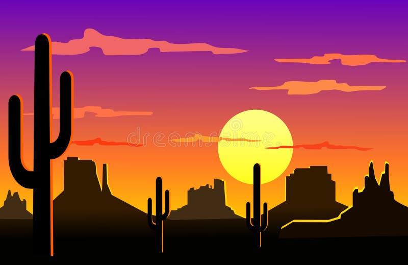 arizona ökenliggande stock illustrationer