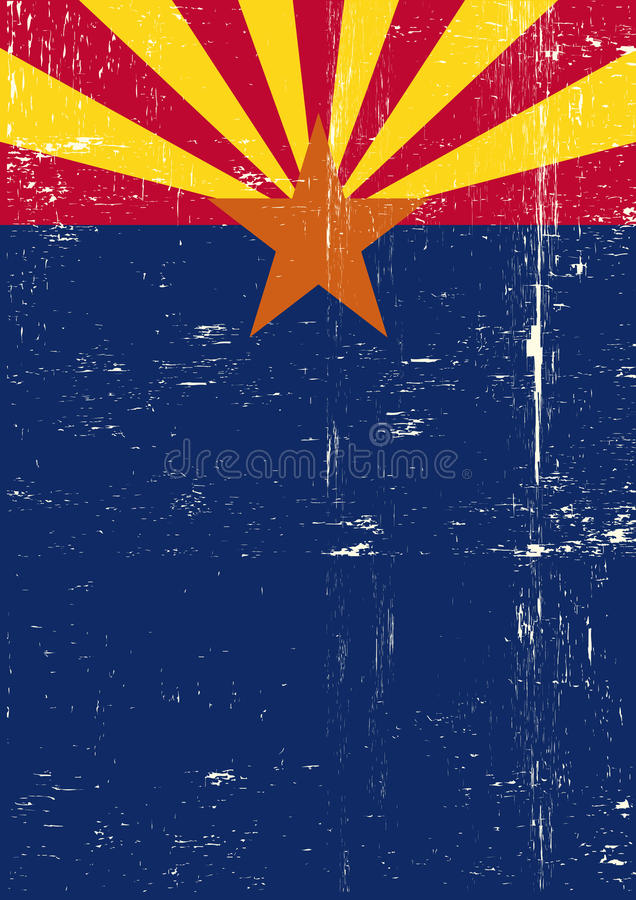 Arizona affisch stock illustrationer