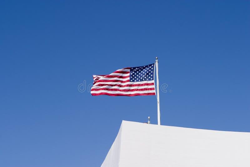 Arizona amerian flagi uss memorial fotografia royalty free