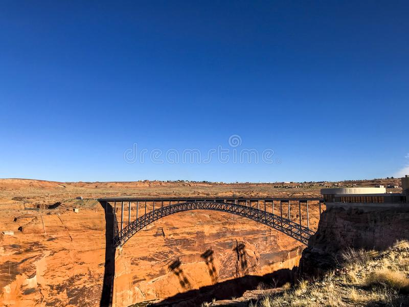 View of the Glen Canyon Bridge stock images