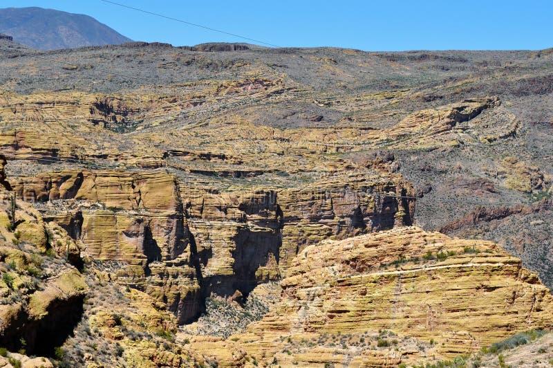 Arizona bergskedjanord av Phoenix arkivbild