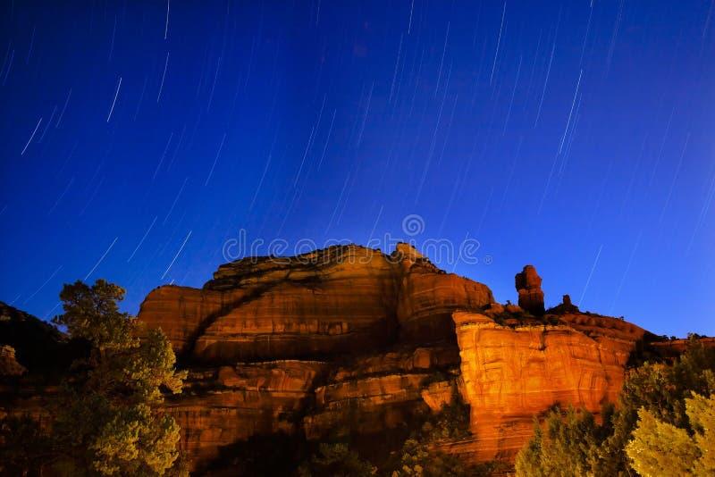 arizona boynton jaru noc sedona gwiazdy próby fotografia stock
