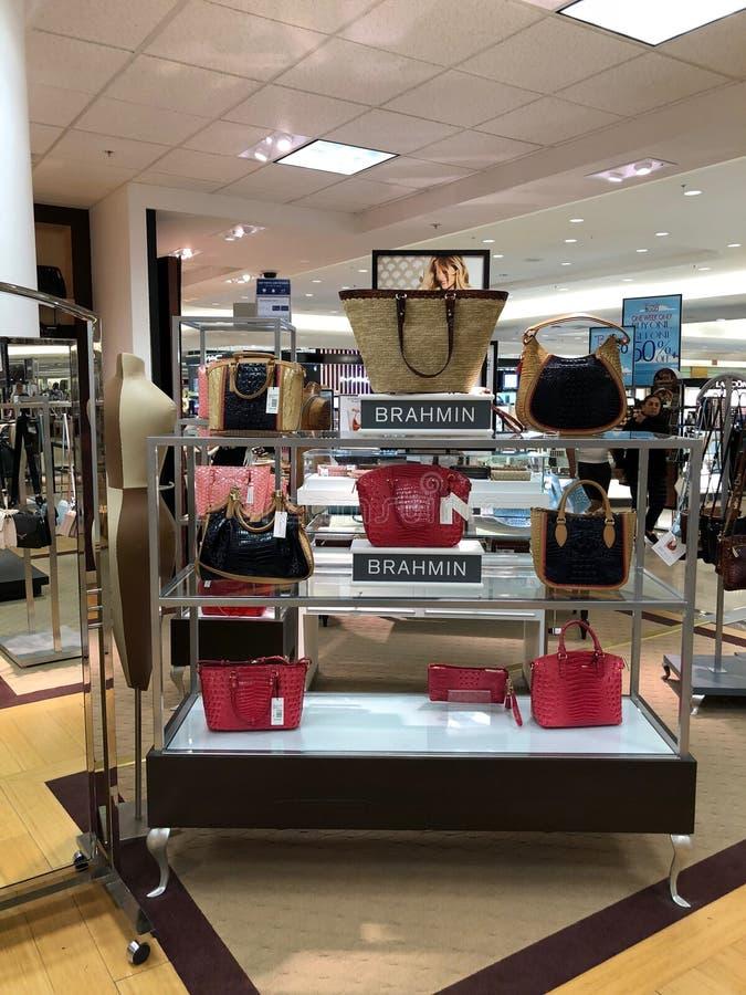 Brahmin Handbags in a Department Store. Arizona brahmin department design dillards display female handbags highend ladys mall scottsdale store stock images