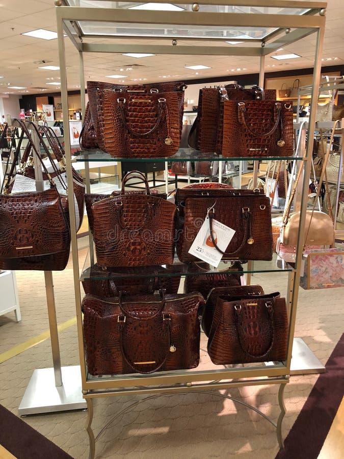 Brahmin Handbags in a Department Store. Arizona brahmin department design dillards display female handbags highend ladys mall scottsdale store stock photography
