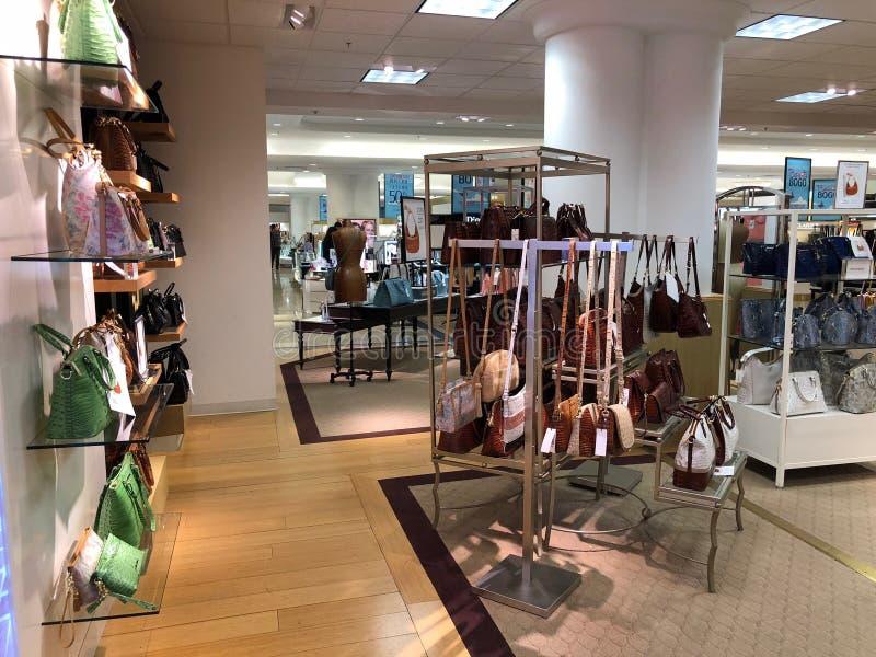 Brahmin Handbags in a Department Store. Arizona brahmin department design dillards display female handbags highend ladys mall scottsdale store stock image