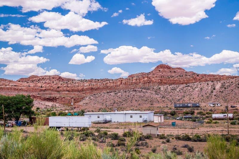 Arizona byn av navajoen Bylivet av indianer arkivfoton