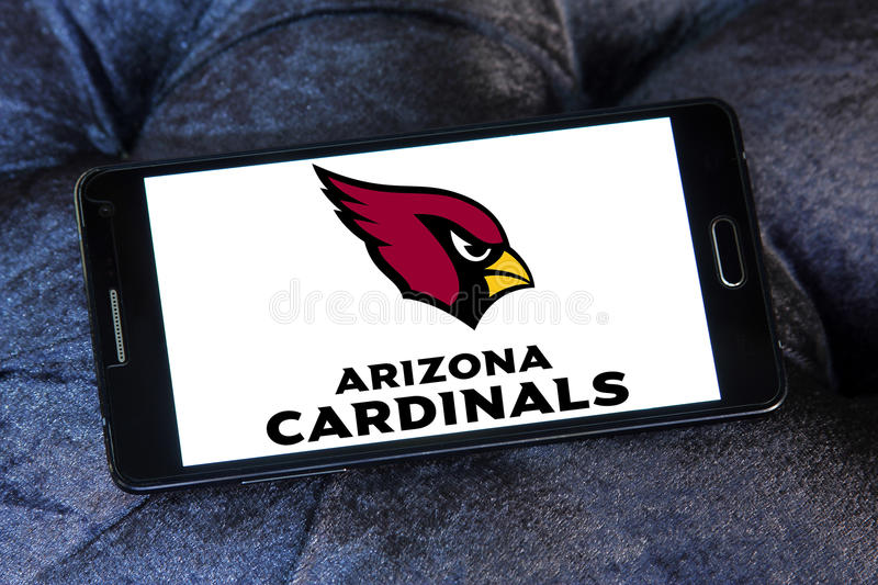 Arizona Cardinals american football team logo stock image