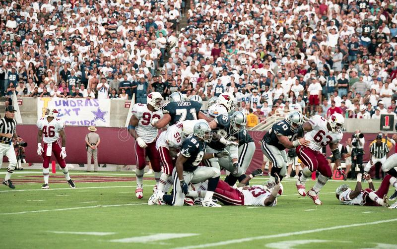 Arizona Cardinals e Dallas Cowboys, o 7 de setembro de 1997 fotografia de stock