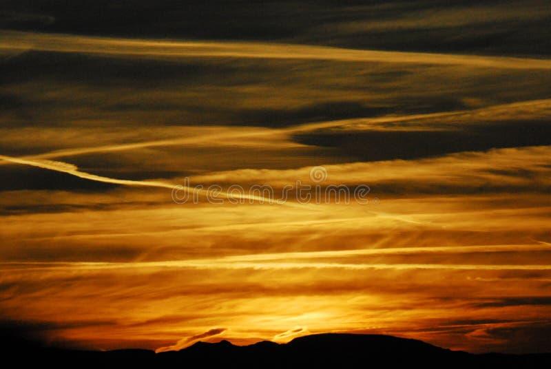 Arizona, Chloride, de Glorierijke Zonsondergang van de V.S. stock fotografie