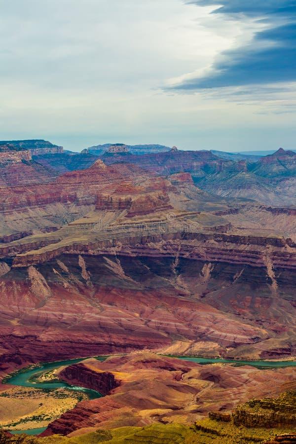 arizona colorado hästskoflod USA arkivbilder