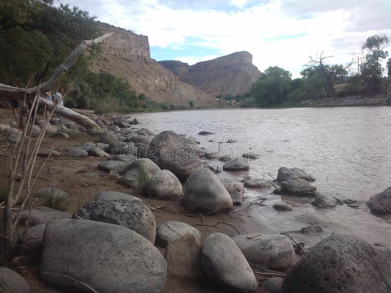arizona Colorado podkowy rzeka usa obraz stock